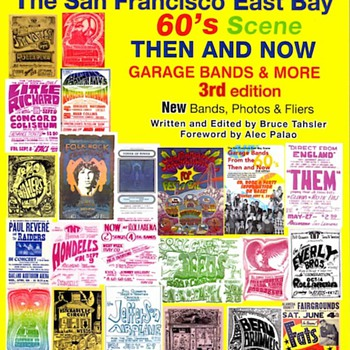 Signed copy of book on East Bay music scene in 1960s, 70s - Books