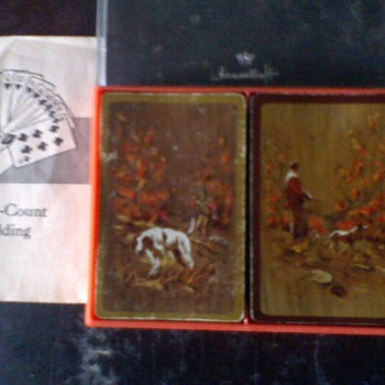 Vintage Hallmark 'Sportsman' Bridge Playing Cards - Games