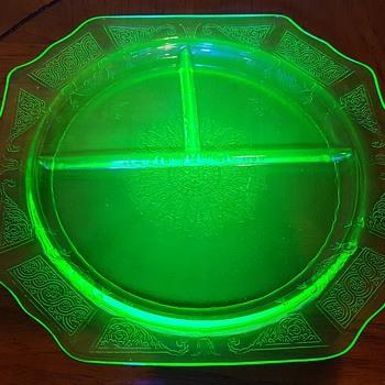 Uranium Glass Grill Plate