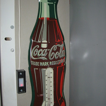 coca cola thermometer  - Advertising