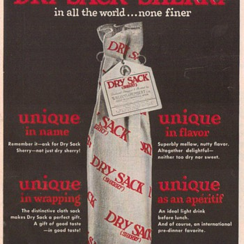1950 Dry Sack Sherry Advertisement - Advertising