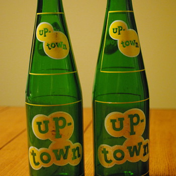 2 Up-Town Soda Bottles