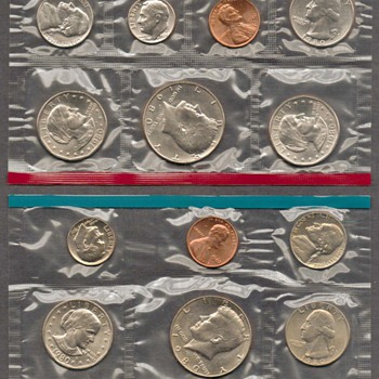1980 - U.S. Mint Coins Set - US Coins
