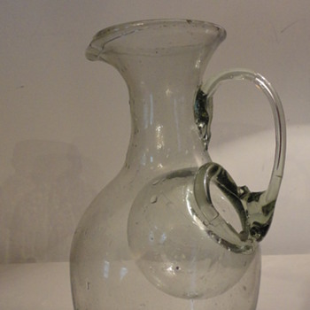 Hand Blown Glass Pitcher - Art Glass