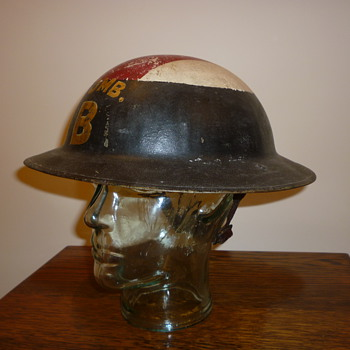 British WWI Stretcher Bearers steel helmet. - Military and Wartime