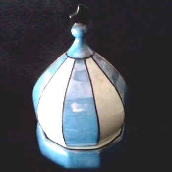 Blue Luster Ware Onion Dome Powder-Dresser Box / Schoenau Bros. Germany /Circa 20th Century