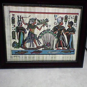 EGYPTIAN SIGNED PAINTING