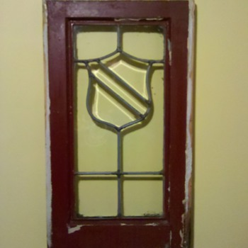 antique leaded glass flea market find.... - Art Glass