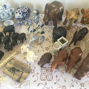 My inherited elephant figurines