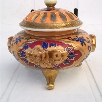 Pre-1920 Noritake Incense Burner Thrift Shop Find 3,50 Euro ($3.70)