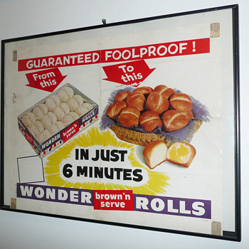 "Wonder Bread ""Brown N' Serve"" Rolls Printers Proof"