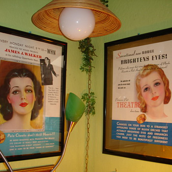 Vintage Princess Pat Advertising Signs