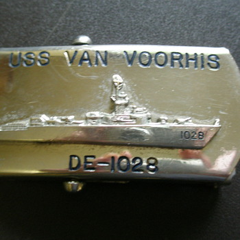 US Navy Belt Buckle USS Van Voorhis