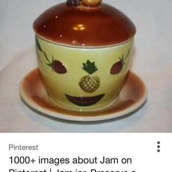 Mr yummy 1950 vintage pineapple jam jar