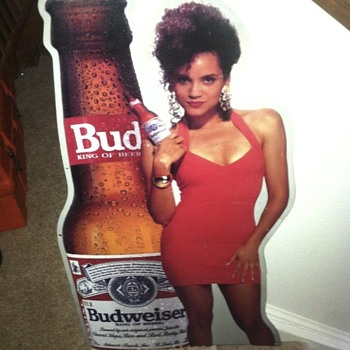 June 1992 budweiser tin sign.