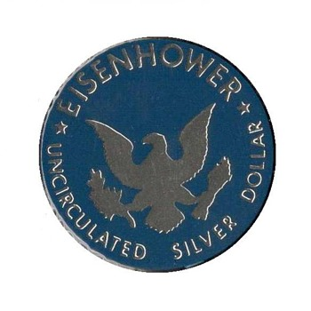 UNC Mint Silver Eisenhower Dollar - Token