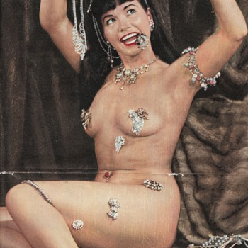 The Most Valuable Pinup in the World (NOT what you think) Bettie Page in Satan Magazine - Posters and Prints