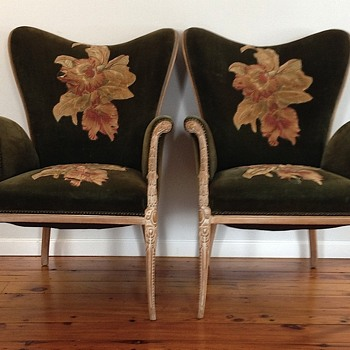 Art Deco Hollywood Regency chairs - Furniture
