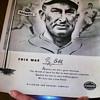 Original Vintage 1961 Ty Cobb Hillerich & Bradsby Louisville Slugger Memorial Poster