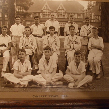 Cricket Team 1934 From Royal Grammar School in Guilford, England