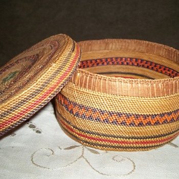Native American Basket, Made by Either The Makah or Nootka Tribe - Native American