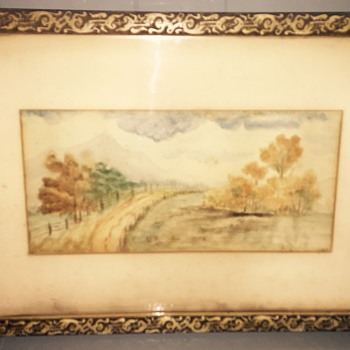 Watercolor painting 1890 signs H.W.P 90 - Visual Art