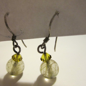Sterling Silver Earrings with Rutilated Quartz