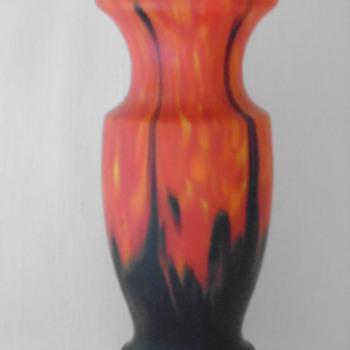 Art Deco Ruckl Satin Glass Vase