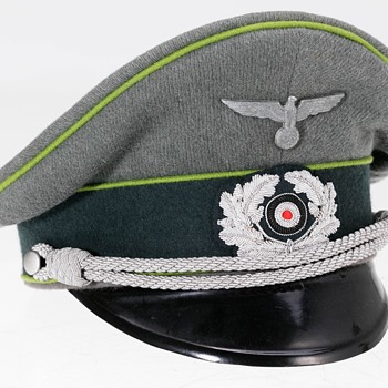 Rare Third Reich Panzergrenadier Officer's peaked cap