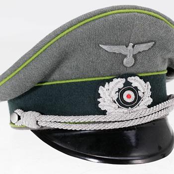 Rare Third Reich Panzergrenadier Officer's peaked cap