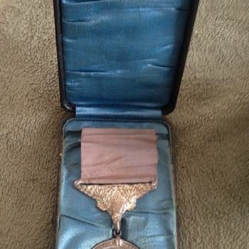 Rare U.S. Coastguard Life Saving Silver Medal/Award with Box