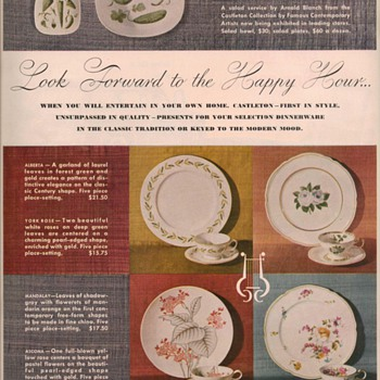 1950 Castleton China Advertisement - Advertising