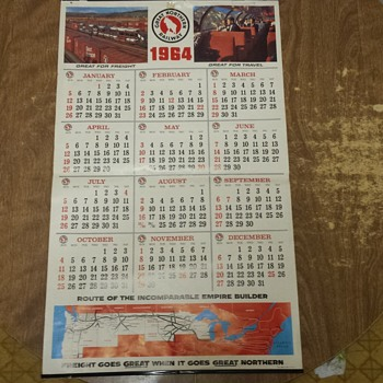 1964 GN Calendar - Railroadiana