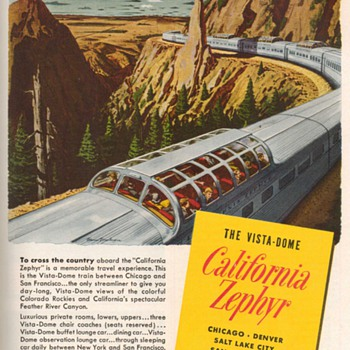 1952 - Western Pacific Railroad Advertisement - Advertising