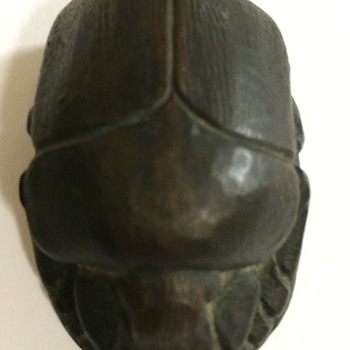 Bronze Scarab Paperweigh