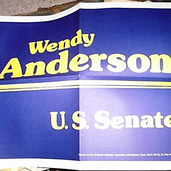 Wendell Anderson '78 campaign sign - Posters and Prints