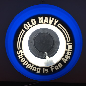 Old Navy light up sign.