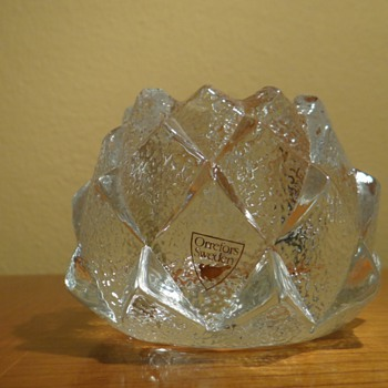 ORREFOR&#039;S -SWEDEN /CANDLEHOLDER - Art Glass