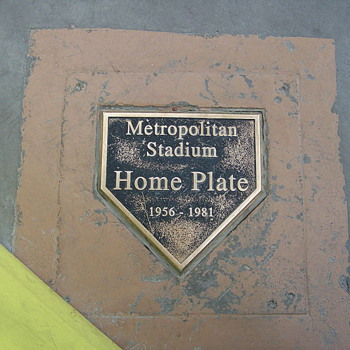 Twins Mementos from Metropolitan Stadium - Baseball