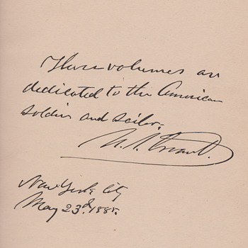 Ulysses Grant Signiture - Military and Wartime