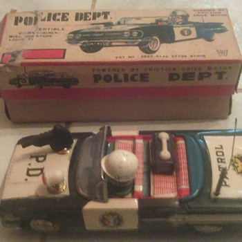 """Ichiko"" Japan Police Dept Car w/box HTF"
