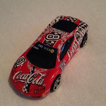 Coca cola hot wheels model car