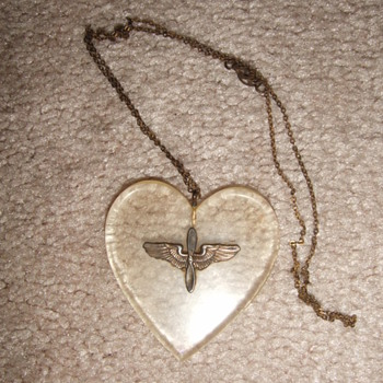 WW2 AAC Trench Art Sweetheart necklace