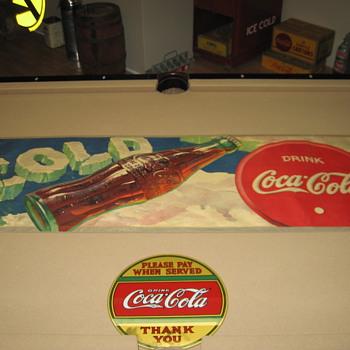 1939 Coca-Cola Fiber  Banner - Coca-Cola