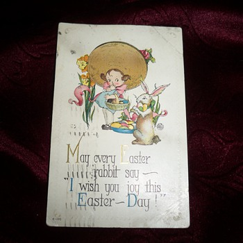 1917 Easter postcard