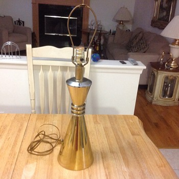 solid brass bow tie table lamp  - Mid-Century Modern