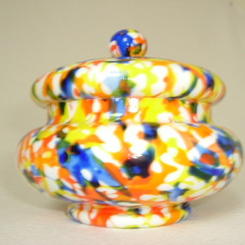 Czech Art Deco Lidded Bowl