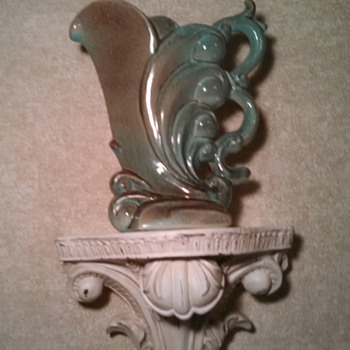 1940's Gonder Cornucopia Vase - Art Pottery
