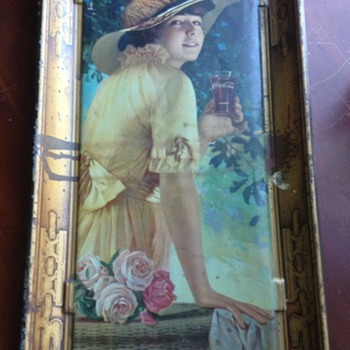 "Original ( I hope ) 1916 coca cola ""Elaine"" tray"