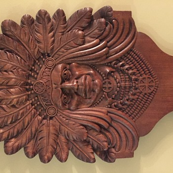 Carved Native American Chief - Furniture